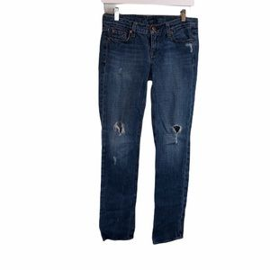 J. Crew Vintage Matchstick Ripped Straight Jeans